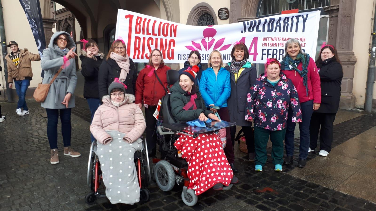 Protest gegen Gewalt an Frauen