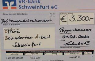 3300 Euro Spende für die OBA