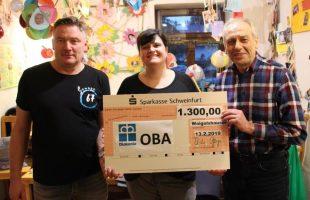 1300 Euro Spende für die OBA