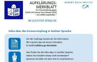 Information zur Corona-Impfung in leichter Sprache